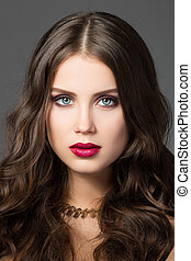 Beauty portrait of gorgeous young woman