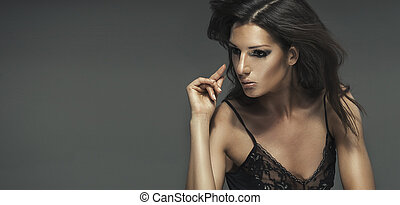Beauty portrait of seductive woman