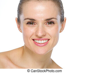 Beauty portrait of smiling young woman