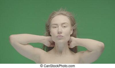 Beauty portrait of woman face