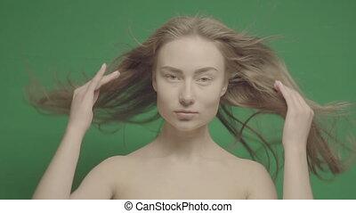Beauty portrait of woman face on