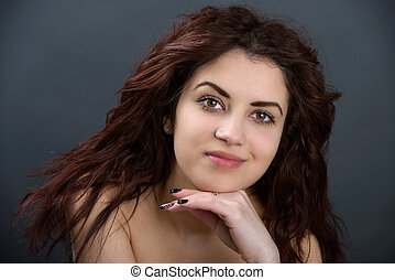 Beauty portrait of young attractive woman