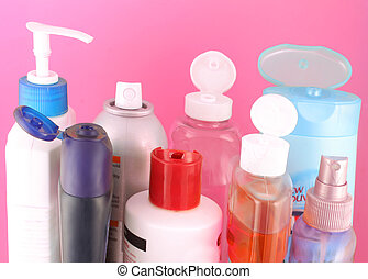 beauty products - different beauty product bottles showing ...