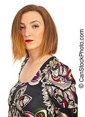 Beauty redhead woman