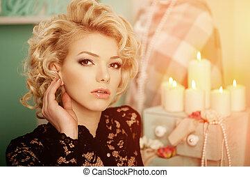 Beauty rich luxury woman