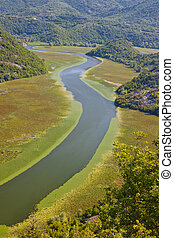 Beauty river in Montenegro