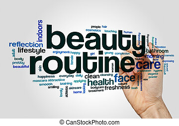 Beauty routine word cloud