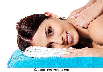 beauty., salon, girl, spa