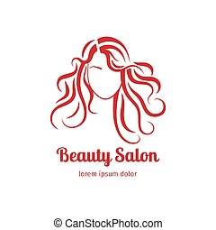 Beauty salon icon with girl
