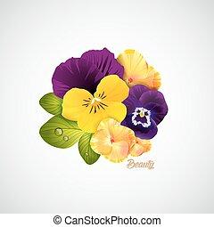 Beauty salon identity naturalistic hydrangea flower with...