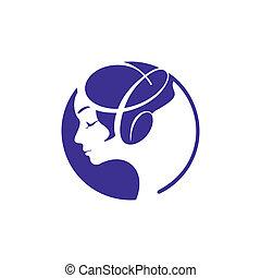 Beauty salon sign - Branding identity corporate logo...