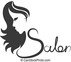 Beauty salon symbol - Beauty salon and hairdresser...
