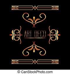 beauty scroll antique ornament golden style vector illustration