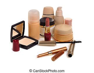 beauty set - set of cosmetics isolated on white background