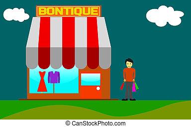 Beauty shop boutique exterior