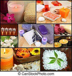 Beauty spa colage