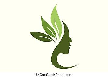beauty spa logo vector concept