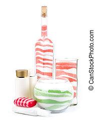 Beauty spa oils and salt