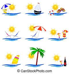 beauty summer icon vector illustration