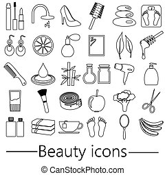 beauty theme big set of various outline icons eps10