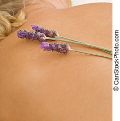 Beauty therapy and lavender