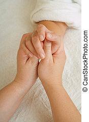 Beauty therapy manicure massage