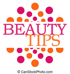 Beauty Tips Pink Orange Dots Square