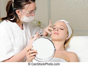 beauty treatment injection