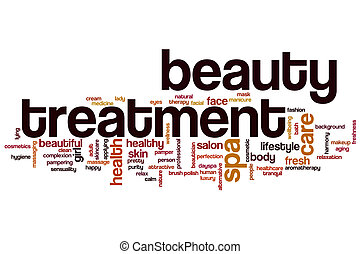 Beauty treatment word cloud concept