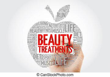 Beauty Treatments apple word cloud