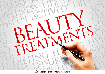 Beauty Treatments word cloud, health concept