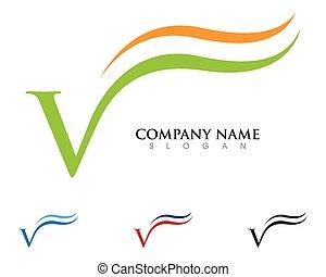 Beauty V Letter Logo Template vector illustration design