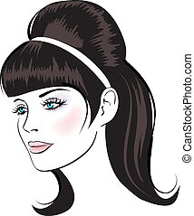 beauty vector face woman portrait