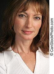 Beauty & Wisdom - A portrait of a beautiful brunette woman...
