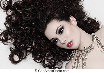 Beauty with curly hair