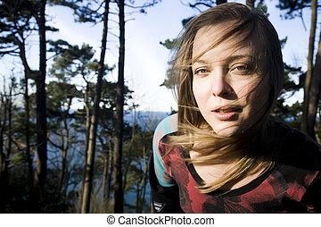 Beauty Woman Close-Up Portrait