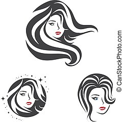 Beauty Woman Face Hair Set