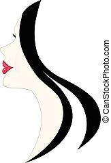 Beauty woman face logo