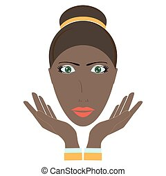 beauty woman face. Vector illustration