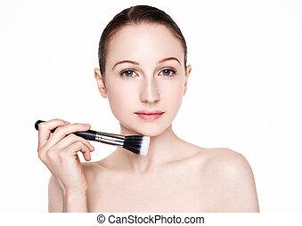 Beauty woman healthy cosmetic makeup portrait