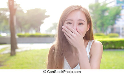 beauty woman laugh excited