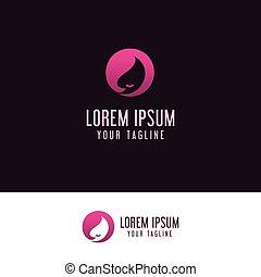beauty woman logo design concept template