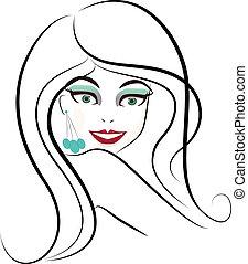 Beauty woman logo
