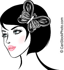 beauty woman portrait. design element.