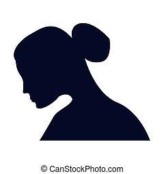woman profile silhouette