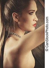 beauty woman profile