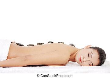 Beauty woman relaxing in spa.