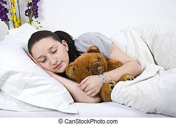 Beauty woman sleeping