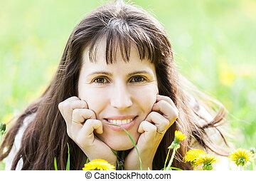 Beauty woman smiling
