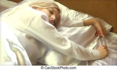 Beauty Woman Waking Up